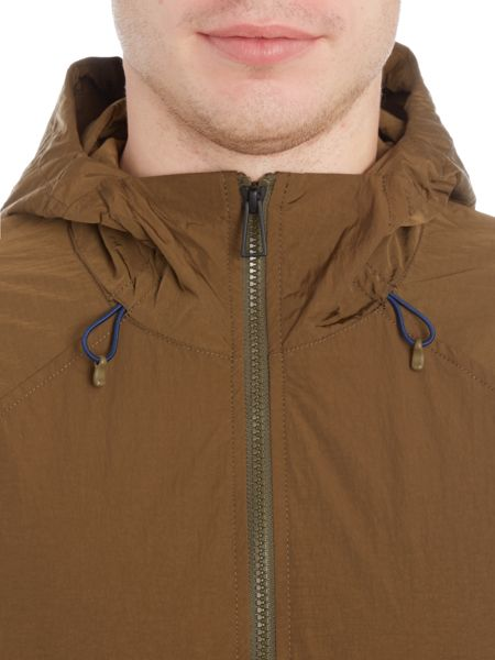 PS By Paul Smith Nylon hoodied zip through jacket
