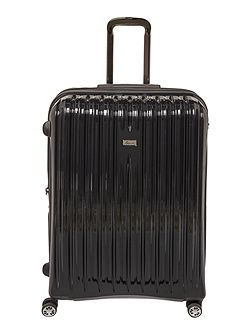 Titanium II black 8 wheel hard large suitcase