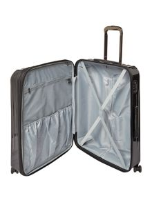 Linea Titanium II black 8 wheel hard large suitcase
