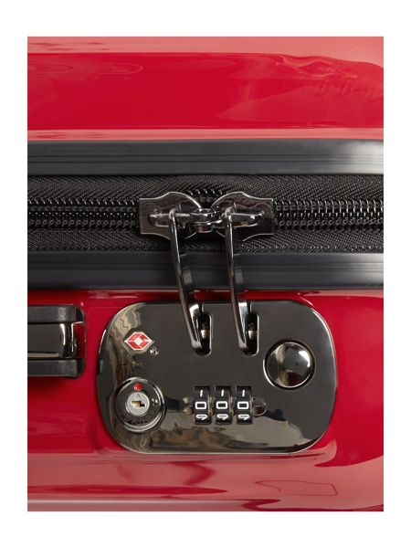 Linea Titanium II red 2 wheel hard cabin suitcase
