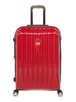 Titanium II red 8 wheel hard medium suitcase