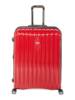 Titanium II red 8 wheel hard large suitcase