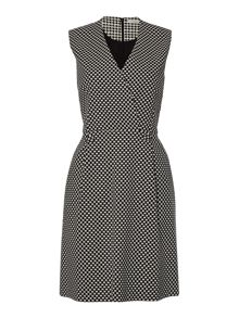 Marella Debutto sleeveless v neck print dress