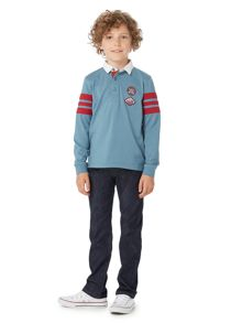 Howick Junior Long sleeve Rugby top with Arm stripes
