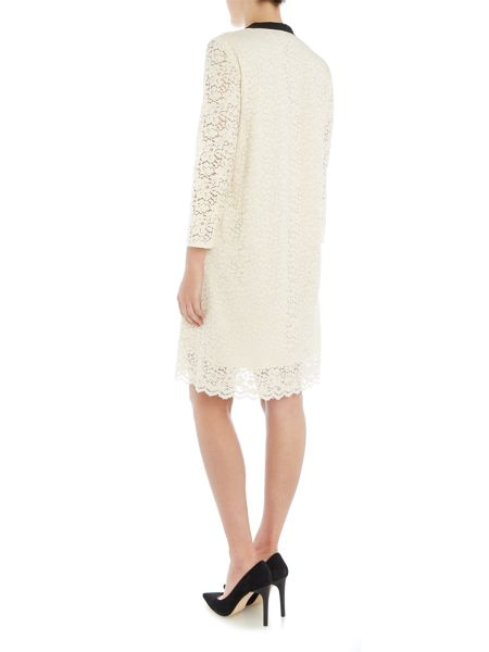 Marella Mirano long sleeve lace dress with tie neck