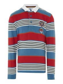 Howick Junior Long sleeve Rugby top with Multistripes