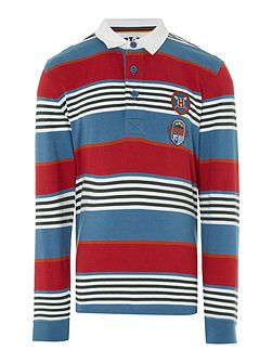 Long sleeve Rugby top with Multistripes