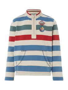 Howick Junior LS Block Stripe Funnel Sweat