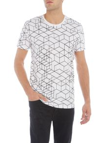 Only & Sons All Over Print Graphic Crew Neck T-shirt