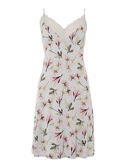 Floral X Ray Print Chemise