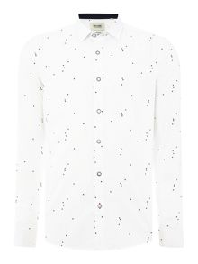 Only & Sons All Over Geometric Print Long Sleeve Shirt