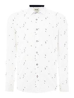All Over Geometric Print Long Sleeve Shirt