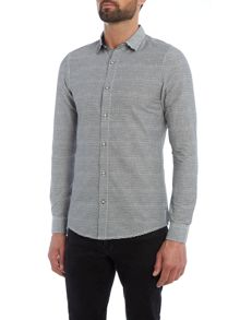 Only & Sons All Over Stripe Print Long Sleeve Shirt
