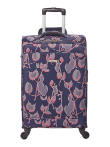 Linea Flora print soft 4 wheel medium suitcase