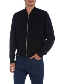 PS By Paul Smith Textured zip through bomber jacket