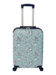 Dickins & Jones Summertime blue 4 wheel hard cabin suitcase