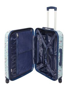 Dickins & Jones Summertime blue 4 wheel hard medium case