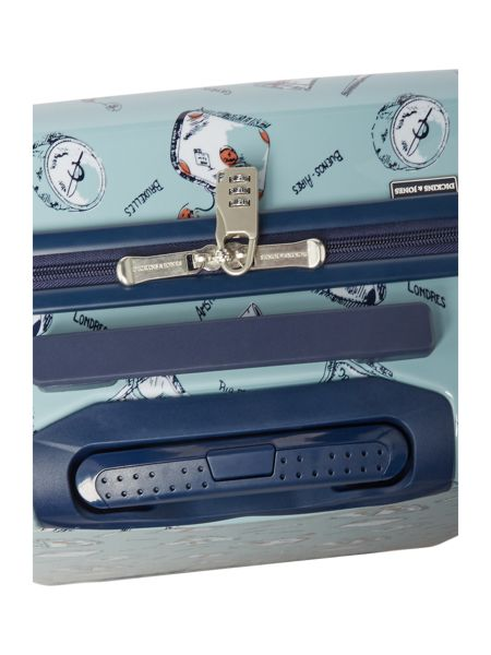 Dickins & Jones Summertime blue 4 wheel hard large case