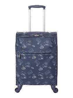 Voyage navy 4 wheel soft cabin suitcase