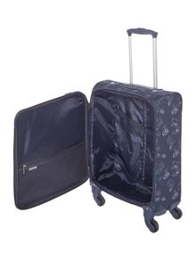 Dickins & Jones Voyage navy 4 wheel soft cabin suitcase