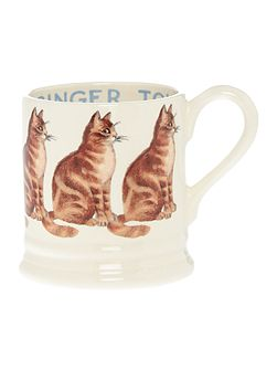 Ginger Tom Cat 1/2 Pint Mug