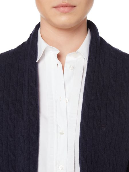 Gant Cable Knit Wrap Cardigan