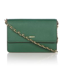 DKNY Saffiano green small chain crossbody bag