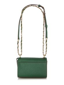 DKNY Saffiano green square crossbody