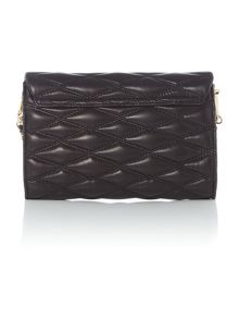 DKNY Quilted black small flapover chain crossbody