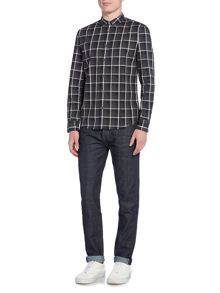 Criminal Marley Shadow Check Long Sleeve Shirt