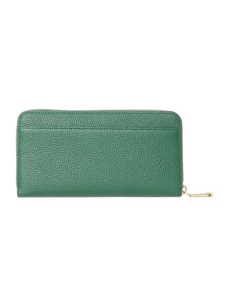 DKNY Chelsea green large zip around purse