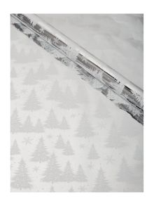 Linea Silver and white 3m Christmas tree wrapping paper