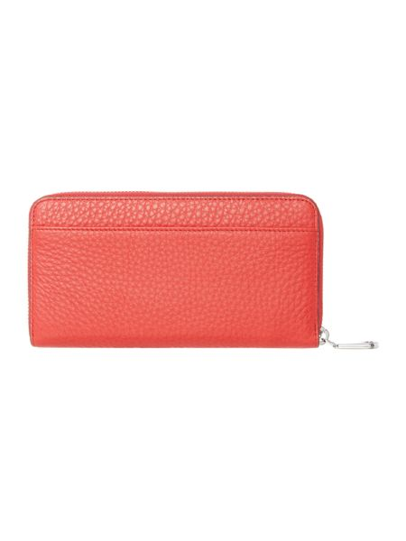 DKNY Tribeca red large zip around purse