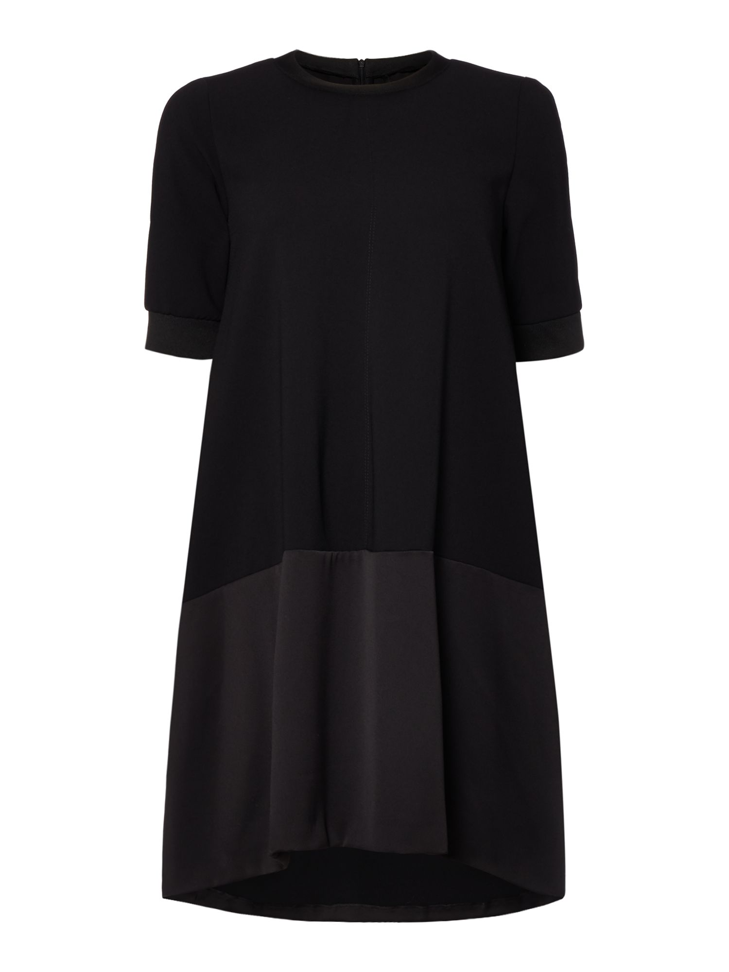 Marella Fresia 1/2 sleeve woven mix dress, Black
