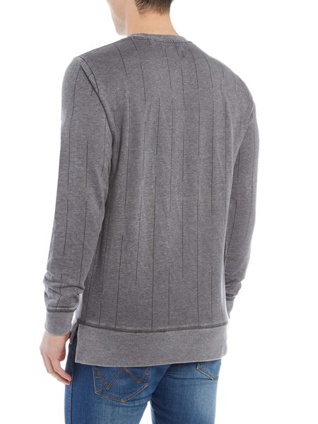 Only & Sons Broken Stripe Burn Out Sweatshirt