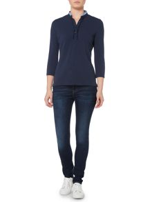 Gant Frill Placket Ruby Top