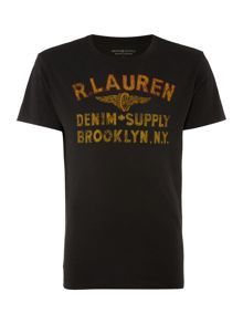 Denim and Supply Ralph Lauren Regular fit winged logo print t shirt
