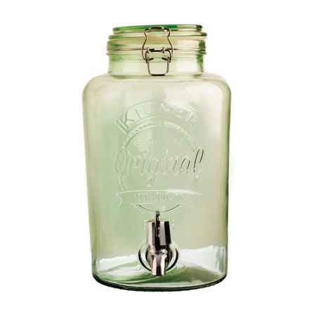 Kilner 5LT COLOURED DRINKS DISPENSER, GREEN