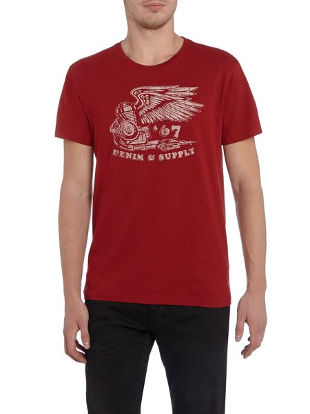 Denim and Supply Ralph Lauren Regular fit winged 67 logo print t shirt