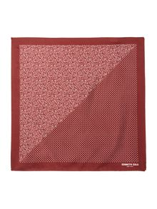 Kenneth Cole Kai Floral and Polka Dot Silk Pocket Square