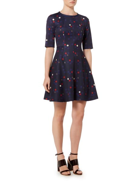 Marella Bengasi polka dot fit and flare dress