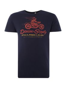 Denim and Supply Ralph Lauren Regular fir speeding biker print t shirt