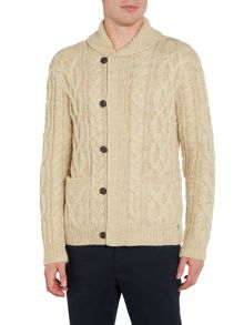 Denim and Supply Ralph Lauren Shawl neck cable front cardigan
