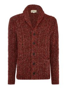 Denim and Supply Ralph Lauren Shawl neck buttom front marl cardigan