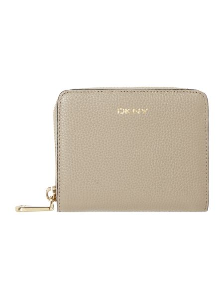 DKNY Chelsea neutral small zip around purse
