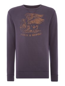 Denim and Supply Ralph Lauren Crew neck winged 67 logo print sweatshirt