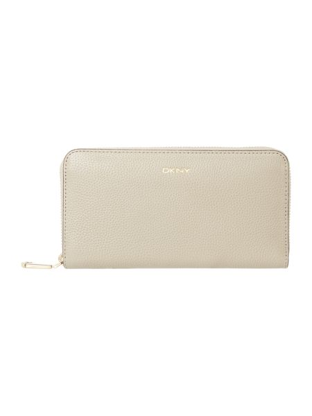 DKNY Chelsea neutral large zip around purse