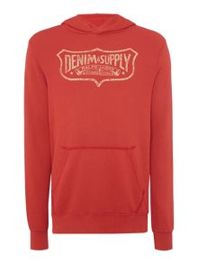 Denim and Supply Ralph Lauren Pocket front printed logo hoodie