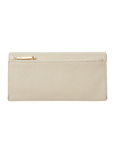 DKNY Chelsea neutral large foldover purse