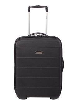 Frameless pod black 2 wheel soft cabin suitcase